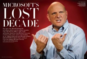 Vanity Fair cover image of Steve Ballmer