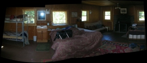 Panoramic view, rear of bunk house